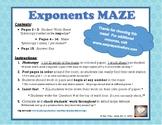 Exponents Maze (Factor, Simplify, Solve!)