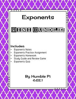 Exponents Mini Bundle-6.EE.1
