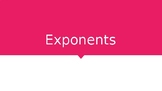 Exponents Mini Lesson Power Point