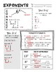 Exponents Note Taking and Practice - Middle School Math