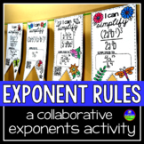 Exponent Rules Math Pennant Activity for the laws of exponents