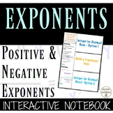 Positive and Negative Exponents Color-Coded Interactive Notebook Foldable