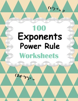 Exponents - Power Rule Worksheets