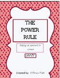 Exponents Power Rule Worksheet