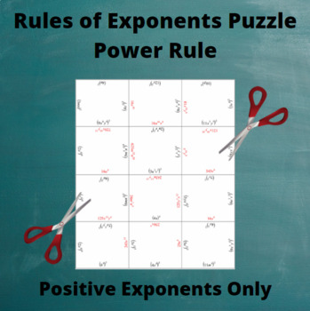 Exponents Puzzle : Power Rule with Only Positive Exponents