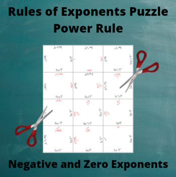 Exponents Puzzle : Power Rule with negative and zero exponents
