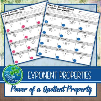 Exponent Properties - Power of a Quotient