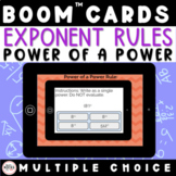 Exponents Power of a Power Rule Write as a Single Exponent Digital BOOM Activity