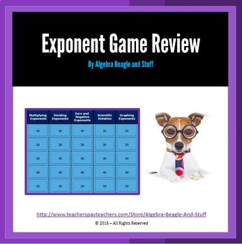 Exponents Collaborative PowerPoint Game Review