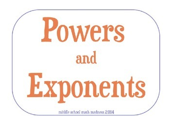 Exponents Powerpoint Lesson