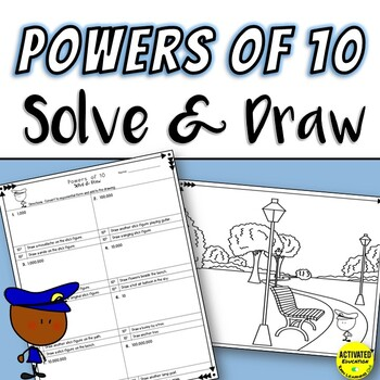 Exponents & Powers of 10 Solve & Draw Bundle
