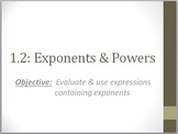 Exponents & Powers