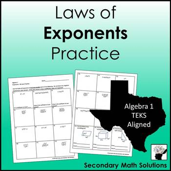 Exponents (All Laws) Practice (A11B)