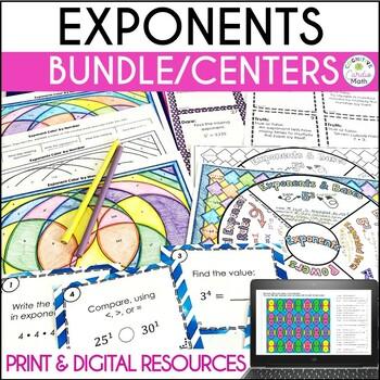 Exponents Practice Bundle
