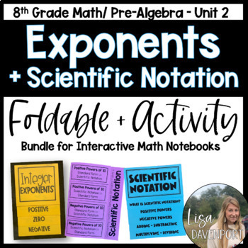 Exponents (Pre-Algebra Foldable & Activity Bundle)