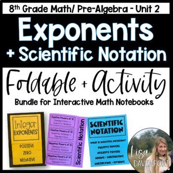 Exponents (Pre-Algebra Foldable & Activity Bundle)