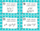 Exponents (Product Rule, Power Rule, Quotient Rule) - Task Cards