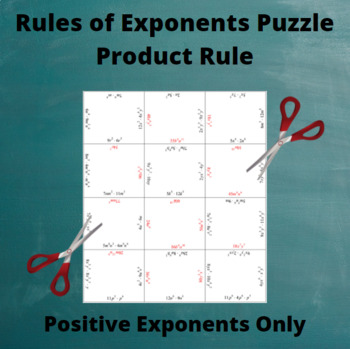 Exponents Puzzle : Product Rule with Only Positive Exponents