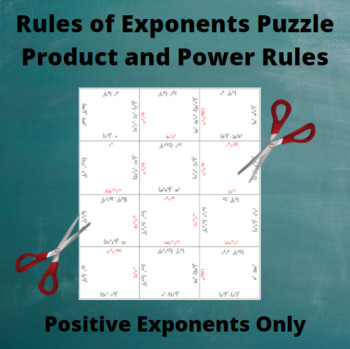 Exponents Puzzle : Product and Power Rules with Only Positive Exponents