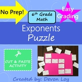 Exponents: Cut and Paste Puzzle