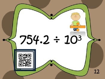 Place Value {Exponents:QR code fun}