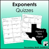 Exponents Quizzes (A11B)