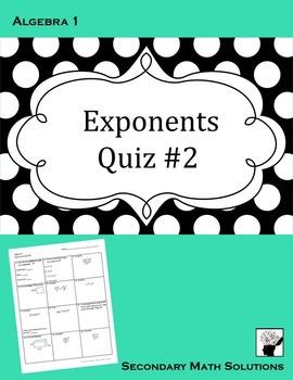 Exponents Quiz #2