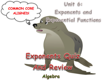 Exponents Quiz and Review