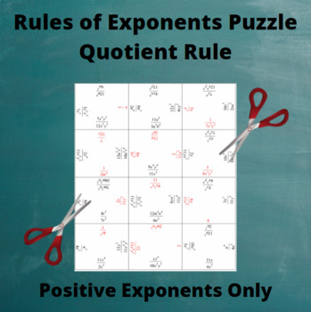 Exponents Puzzle : Quotient Rule with Only Positive Exponents