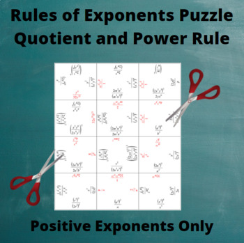 Exponents Puzzle : Quotient and Power Rules with Only Positive Exponents