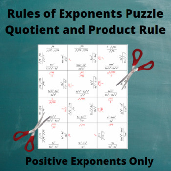 Exponents Puzzle: Quotient and Product Rules with Only Positive Exponents