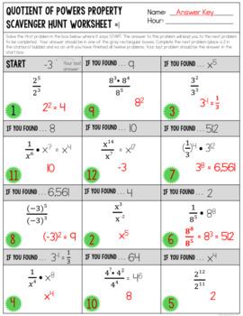 Exponent Properties - Quotient of Powers