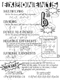 Exponents Review - Doodle Page
