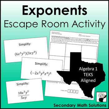 Exponents Review Game (Amazing Race) (A11B)