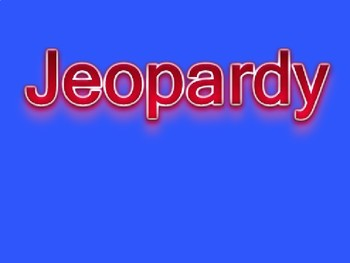 Exponents Review Jeopardy
