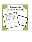Exponents Review Packet