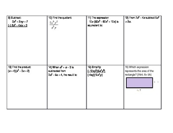 Exponents Review Sheet