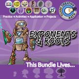 Exponents, Roots & Scientific Notation -- Pre-Algebra Curriculum Unit Bundle