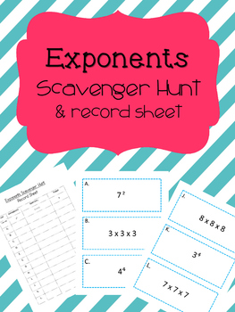 Exponents Scavenger Hunt