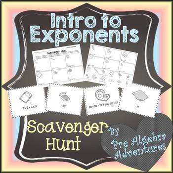 Exponents Scavenger Hunt {Exponent Activity} {Exponents Activities}