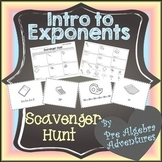 Exponents Scavenger Hunt {Exponent Activity} {Exponents Ac