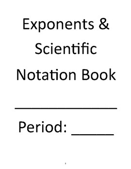 Exponents & Scientific Notation Unit Book