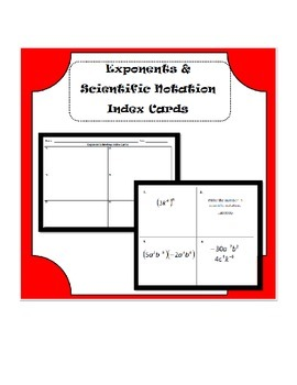 Exponents, Scientific Notation, and Exponential Functions Review Activity