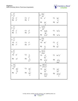Exponents, Scientific Notation, and Radicals