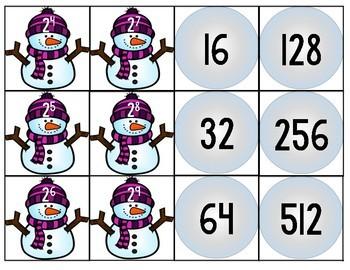 Exponents Snowman Match