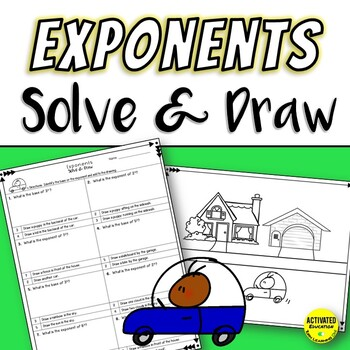 Exponents Solve & Draw Practice and Review