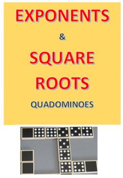 Exponents & Square Roots Quadominoes