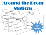 Exponents Stations Around the Room Editable .docx File