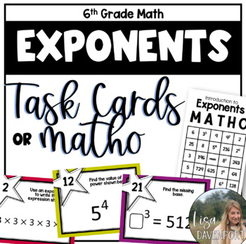 Exponents (Task Cards)
