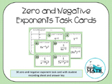Exponents Task Cards